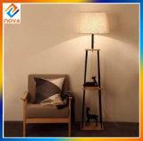 Lámpara de suelo del soporte del diseño LED del color de la cortina de la tela para el sitio de estudio