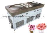 Machine conçue neuve de crême glacée de friture de la Thaïlande avec de doubles carters carrés du carter six
