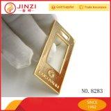 Étiquette nommée en métal fait sur commande/plaque d'identification/étiquette de plaque métallique/en métal/logo en métal