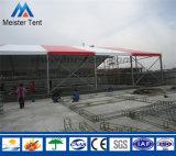 赤および白のストリップ屋外の固体フレーム党テント