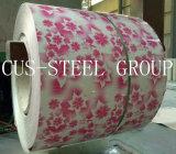 Flower Grained Color Steel Sheet / bobina de aço impresso / padrão de madeira PPGI