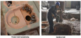 для высоких частей износа бабы молота стали марганца, вставки Tic