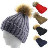 La qualité en gros a nervuré le Beanie, chapeau tricoté