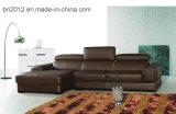 Домашняя софа неподдельной кожи мебели (H2978)