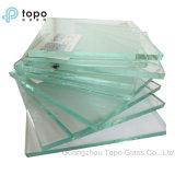 87%-89% vidrio ligero del llano del flotador del claro de la transmitencia (C-TP)