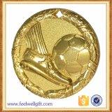 Medaglia in lega di zinco del gioco di calcio del bronzo dell'argento dell'oro