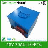 48V 20ah de Batterij van LiFePO4 voor het Systeem van de ZonneMacht