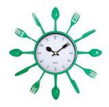 Nuevo reloj de pared creativo del cuarzo de la decoración de la cocina del diseño de la manera
