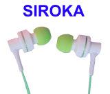 Trasduttore auricolare del walkie-talkie per lo studio radiofonico con i ricevitori telefonici di Earhook