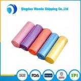Größen-HDPE/LDPE farbigen Plastikabfall-Beutel anpassen