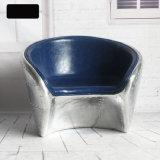 Cadeira de alumínio da sala de estar da cadeira de couro da cadeira industrial retro do estilo do sotão do lazer