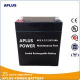 Batterie d'acide de plomb rechargeable scellée exempte d'entretien 12V 5.5ah d'UPS