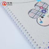 cuaderno espiral de la cubierta del papel 250gms