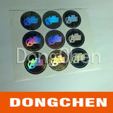 Горячие штемпелюя покрашенные стикеры Holograms