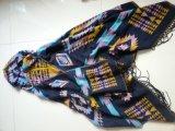 Poncho acrílico da cor misturada para acessórios de forma do lenço do inverno das mulheres