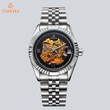 De Automatische Horloges van het Skelet van de Horloges van Timesea van Shenzhen met Roestvrij staal Band72455