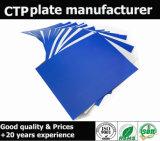 Amostra térmica da placa do CTP do azul de céu da alta qualidade para livre