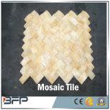 Mosaico de mármol cuadrado de piedra de la naturaleza para el azulejo del cuarto de baño