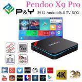 La PRO 2GB ROM Amlogic S912 di RAM di Pendoo X9 16GB si raddoppia WiFi con Bluetooth4.0 il supporto Android OEM/ODM del contenitore di contenitore 4k Ott TV di Android 6.0 TV