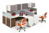 칸막이실 워크 스테이션 /Office 현대 알루미늄 유리제 나무로 되는 분할 (NS-NW142)