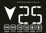 '' Höhenruder-Bildschirmanzeige des Passagier-6.4 mit schwarzem Hintergrund