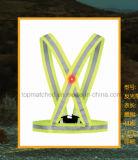 Veste reflexiva do diodo emissor de luz do esporte elástico da série para segurança Running