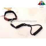 Laisse de haute qualité de la couleur solide 10mm Tetoron de Chaud-Vente avec le traitement d'EVA et le collier réglable de 15mm