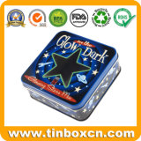 De vierkante Doos van het Tin, de Verpakking van het Blik van het Tin, de Container van het Tin van het Metaal van de Gift