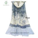 Voile-koreanisches Drucken mit Acajoubaum-Schal-Großverkauf-Dame Fashion Scarf