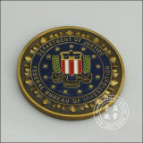 Emamelのカスタム不均等なロゴの組織の硬貨(GZHY-YB-009)