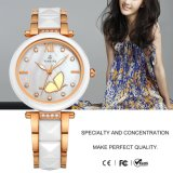 Wristwatch 71091 повелительницы Сетно-аналогов Кварца вахты кристаллический Rhinestone женщин способа керамический