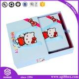 Nettes Miezekatze-Kind-Uhr-Kleid Pcakaging Geschenk-Papierkasten
