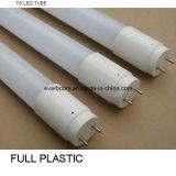 Tubo di plastica pieno dell'alloggiamento T8 LED (EFT8F18)