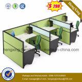 Poste de travail en bois de partition de bureau de portées des meubles de bureau 4 (HX-PT5074)