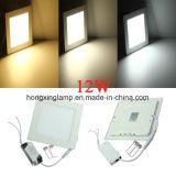 Luz de techo ahuecada el panel cuadrado del LED 12W 18W