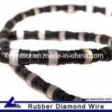 El resorte de Rubber+Flat reforzó el alambre del diamante consideró con los granos sinterizados diámetro de 10.5m m para el acero del corte y el arrabio