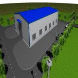 Magazzino prefabbricato dell'azienda agricola della struttura d'acciaio con il migliore disegno