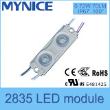 1.08W SMD 2835 LED resistente al agua módulos de inyección de señalización de luz con lente