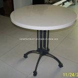 Corianの円形の固体表面の庭表のコーヒーテーブル