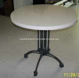 Corian 둥근 단단한 지상 정원 테이블 커피용 탁자