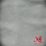 Reines weißes Polyester-Veloursleder-Gewebe für Kleid/Frauen-Kleid