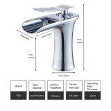 Choisir le robinet de bassin de vanité de salle de bains de cascade à écriture ligne par ligne de traitement