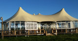 Tente de luxe de Glamping d'hôtel de tente avec des bâtis en métal, PVC et glace