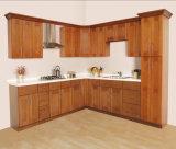 2016 gabinetes de cozinha personalizados modernos da madeira contínua