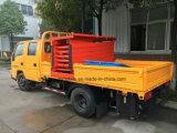6개의 바퀴 두 배 택시 공중 플래트홈은 간접비 작동되는 트럭을 가위로 자른다
