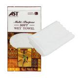 Чистка 100% стороны хлопка индивидуально пакуя обернутое освежая влажное полотенце