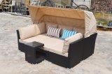 Mobilia esterna stabilita del salotto di Granada del sofà della tenda del rattan della presidenza di spiaggia del Lounger del patio del giardino (J547)