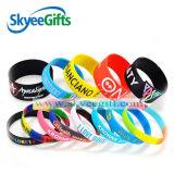 Bracelete adulto personalizado do silicone do logotipo, Wristband relativo à promoção do silicone
