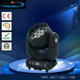 화소와 원격 제어 4PCS 12W RGBW 4in1 LED 소형 광속 이동하는 맨 위 빛으로