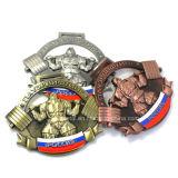 カスタム安い3Dデザイン重量挙げの金メダル
